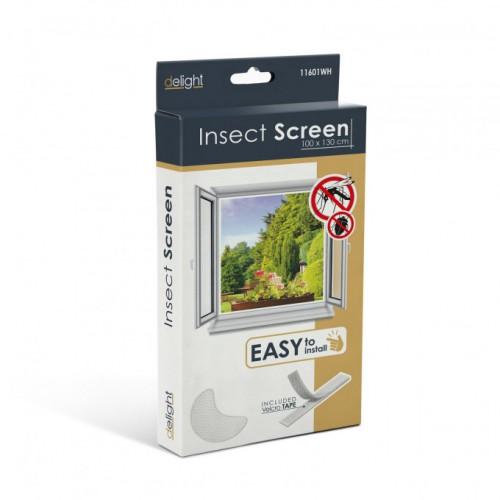 Plasa anti insecte pentru ferestre 100x130 alb , anti muste,anti tantari