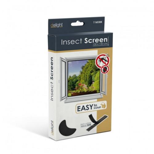 Plasa anti insecte pentru ferestre 150x150 negru , anti muste,anti tantari