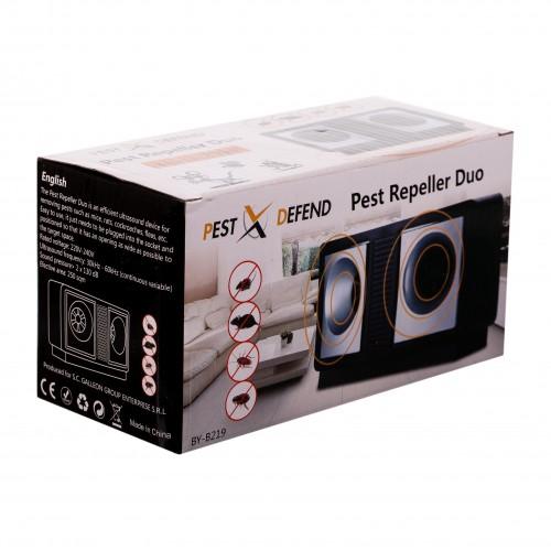 Aparat anti soareci, sobolani, aparat cu ultrasunete anti rozatoare,insecte taratoare,anti gandaci Dual Pest Repeller