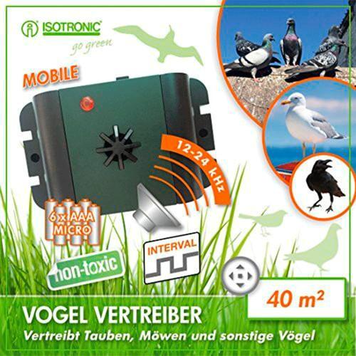 Aparat cu ultrasunete anti pasari portabil Isotronic Birds Repeller