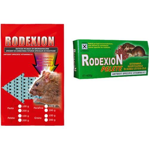 Rodexion momeala raticida parafina 100gr.